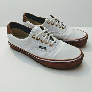 Vans Authentic Classic White Canvas Gumsole Size 9